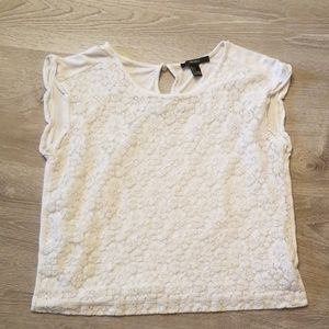 Forever 21 Lace White Tee